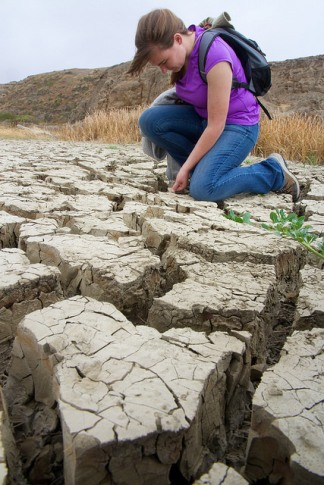 dry river bed on Santa Cruz Island