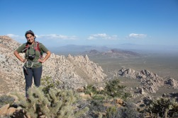Sabrina at the top of the granite mountains in western Mojave