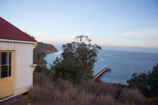 The lookout house above Prisoners' Harbor